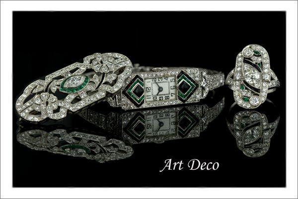Diamond Art Deco Jewelry