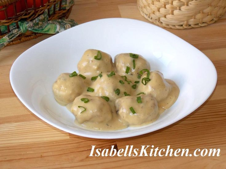 Swedish meatballs in creamy mustard sauce (Kotbullar)
