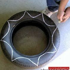 How to Recycle: Old Tires as a Flower Pots