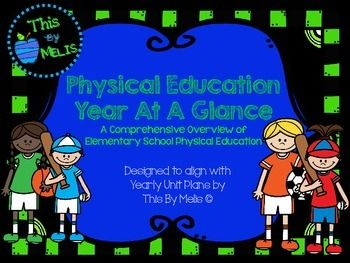 This Phys-Ed Year At A Glance was designed for the Elementary School aged group, more specifically Kindergarten through to Fourth Grade. This package contains a comprehensive overview of elementary school physical education. It was designed to align with the corresponding Unit Plans by This By Melis .