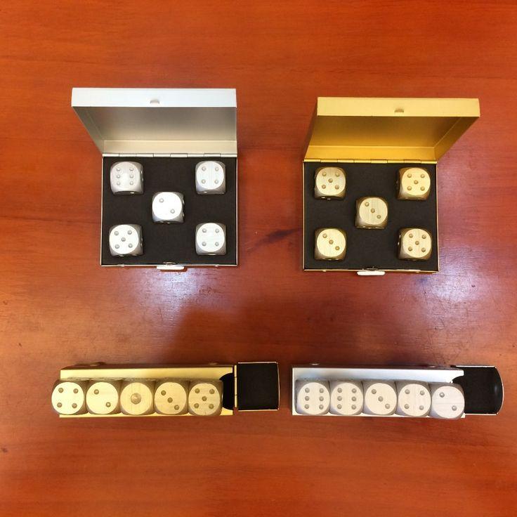 Aluminium dadu set mengirim kotak aluminium/Logam hadiah Promosi Natal Kepribadian tampilan