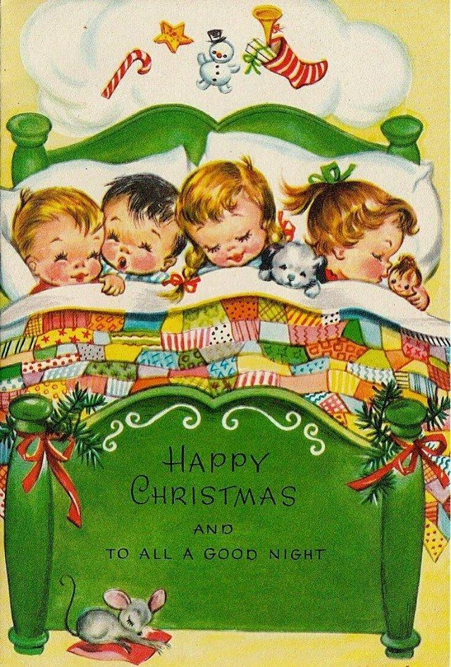 cute christmas graphic with children.