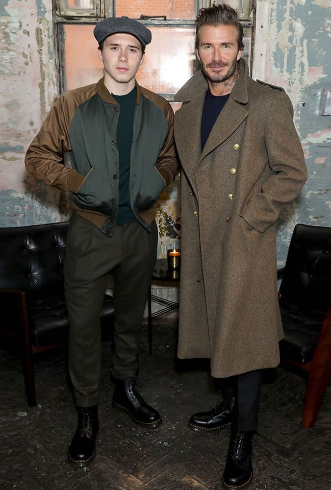 The Best Dressed Men Of The Week: Brooklyn & David Beckham at the Kent Curwen Presentation, LFWM. #bestdressedmen #brooklynbeckham #davidbeckham