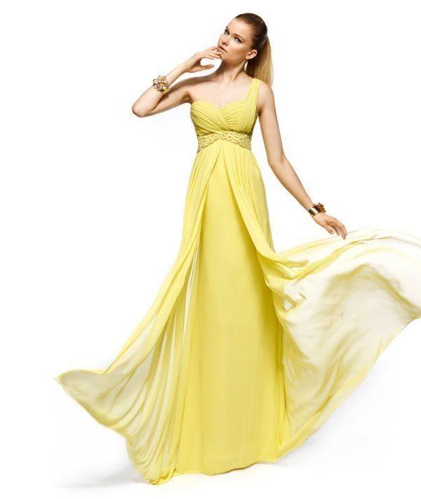 Sarı nişanlık modelleri,nisan elbiseleri,nişan tuvaletleri,kina elbiseleri,_sarı_tek_omuz_uzun_nisanlik