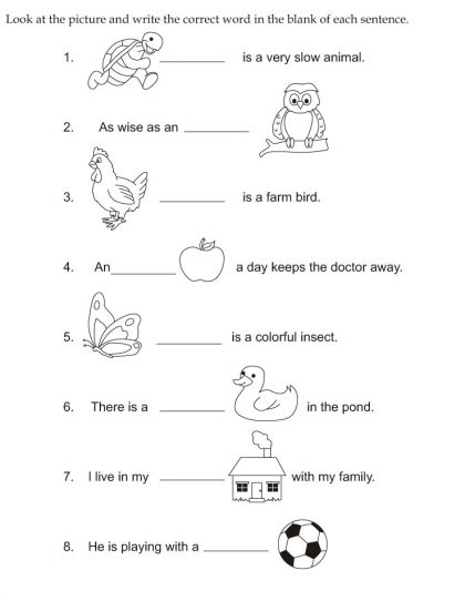 Look And Write Worksheets For Kindergarten