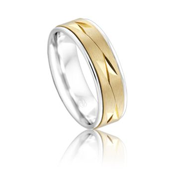 Perfect mix of yellow and white gold by Peter W Beck. #PeterWBeck #AustralianMade #Australia #WeddingRing #Wedding #Ring #WhiteGold #YellowGold #Gold #MensRing