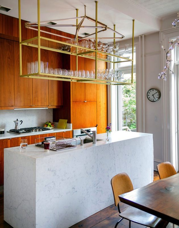 Beautiful Marble Kitchen Island In Beastie Boys Mike D S Cobble Hill Town House