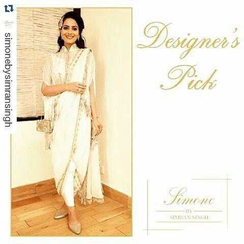 WEBSTA @ headtilt - Always a pleasure dolling up in #SimonebySimranSingh!#Repost @simonebysimransingh with @repostapp・・・Our #PickOfTheWeek is all things classy and minimalistic. Keep it simple and chic in this pre-draped dhoti saree with a hand embroidered cape. You are sure to be a head turner✨ #delhifashionblogger #instafashion #fashiongram #ootd #potd  #fashion #fashionblogger #vscocam #vsco #instadaily #dailyfeature #instamood #flashback #whatiwore #personalstyle #dhotisari #capesari…