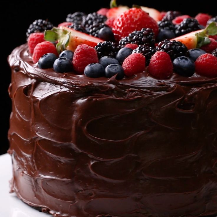 Fudgiest Dairy-Free Chocolate Cake #vegan #cake #chocolate #dessert #sweet
