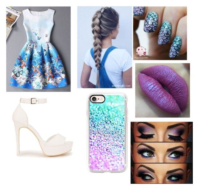 """""""Mermaid outfit"""" by jaraujo3 on Polyvore featuring Nly Shoes and Casetify"""