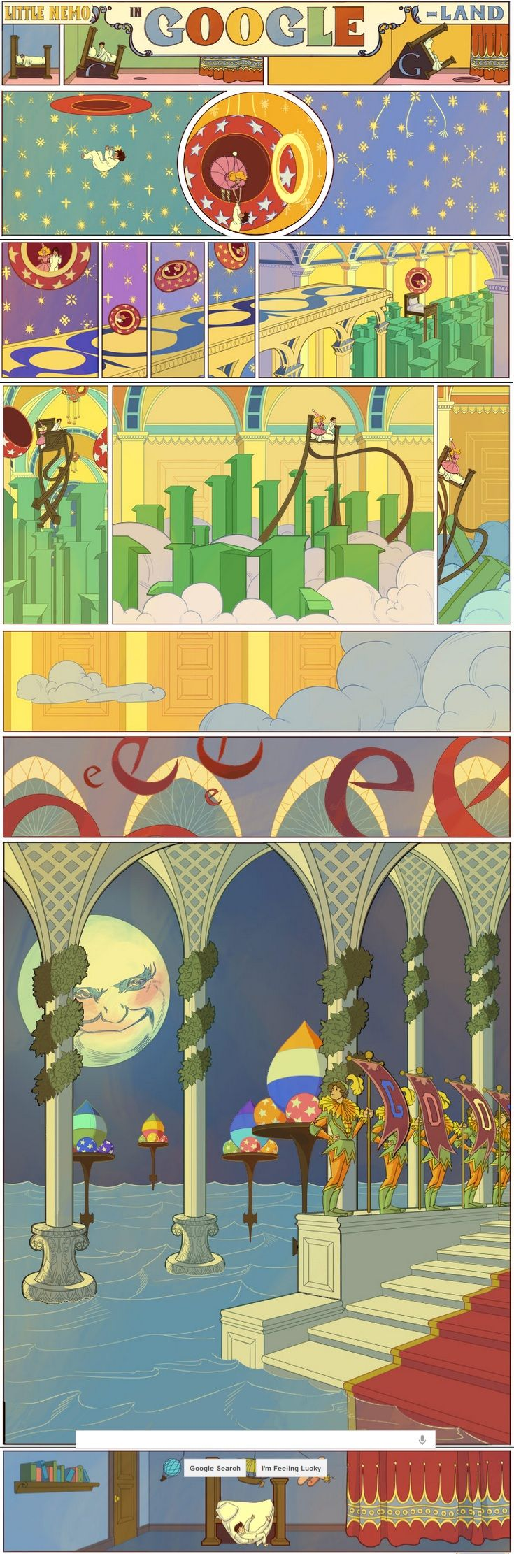 Google Honors Winsor McCay's 'Little Nemo In Slumberland' - Forbes: An interactive animation honoring Winsor McCay's 'Little Nemo In Slumberland' comics on their 107th anniversary. Thanks to @Elizabeth Silbermann! #Winsor_McCay #Nemo_in_Slumberland #Google