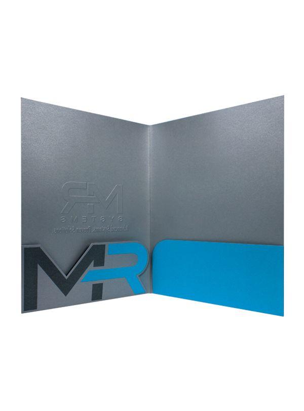 Custom Die-Cut Pocket Folders for MR Systems (Inside View)