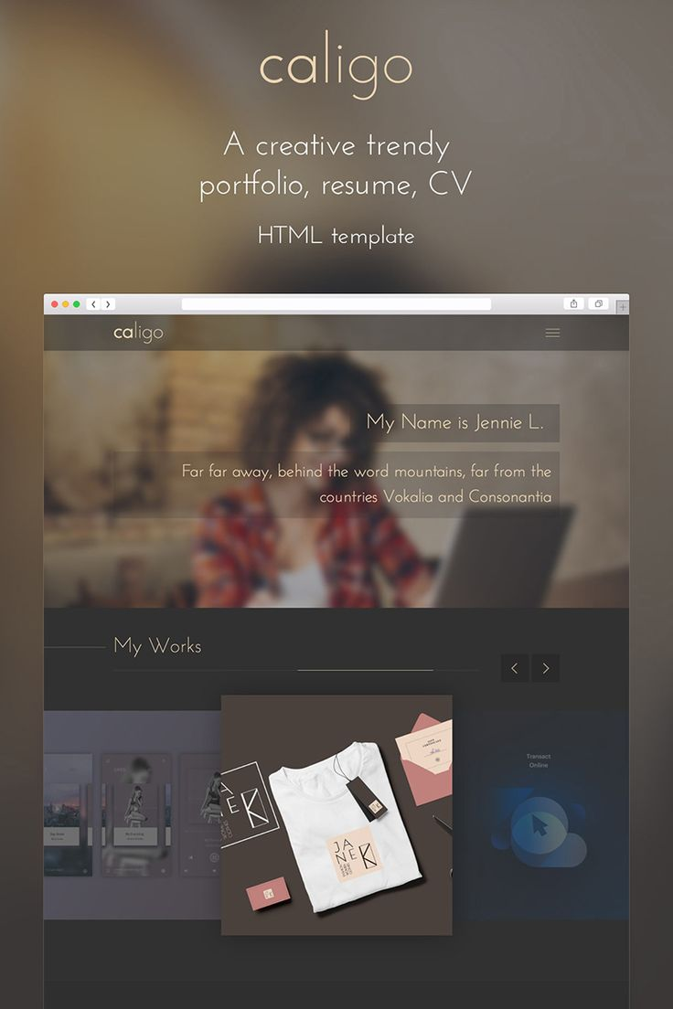 Caligo Portfolio Resume CV Website Template