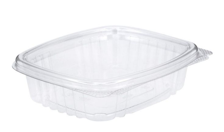 Edible Container 8 oz Plastic Hinged Lid - 1000 Count