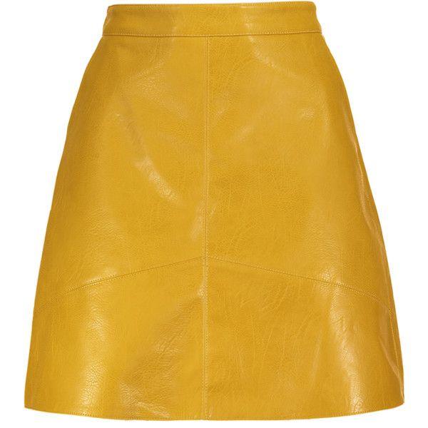 A Line PU Leather Mini Skirt (52 BRL) ❤ liked on Polyvore featuring skirts, mini skirts, a-line skirt, pleather mini skirt, pu leather skirt, short skirts and leatherette skirt