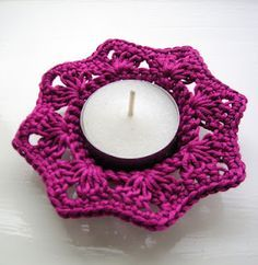 crochet tealight holder pattern - Google Search
