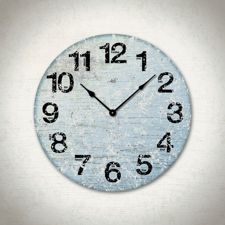 london blues 17in large wall clock in blue white and black modern
