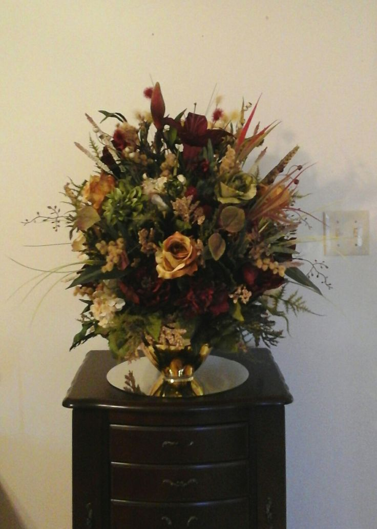 Elegant Floral Arrangement Centerpiece SHIPPING INCLUDED Tuscan Large Silk Foyer