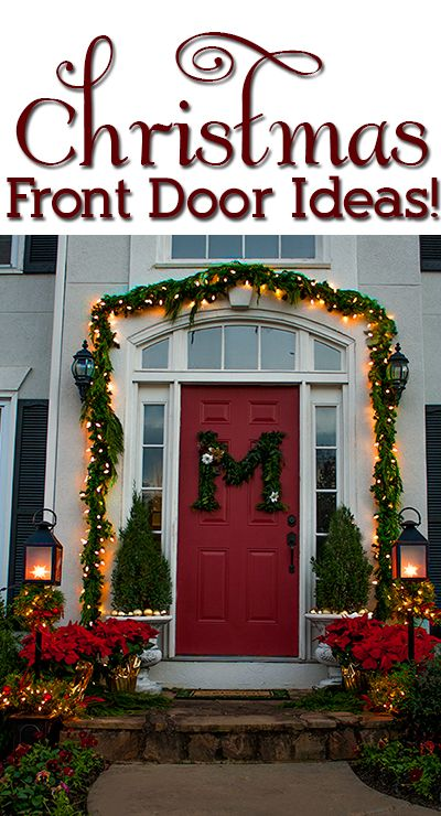 jenniferfordberrycom i love this idea of putting your family initial on your front door organizing holidays pinterest christmas - Outdoor Front Entry Christmas Decorating Ideas