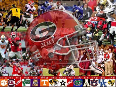 Georgia Bulldogs Football Schedule 2013 | Georgia Bulldogs 2013 Football Schedule - Football, Bulldogs, UGA ...
