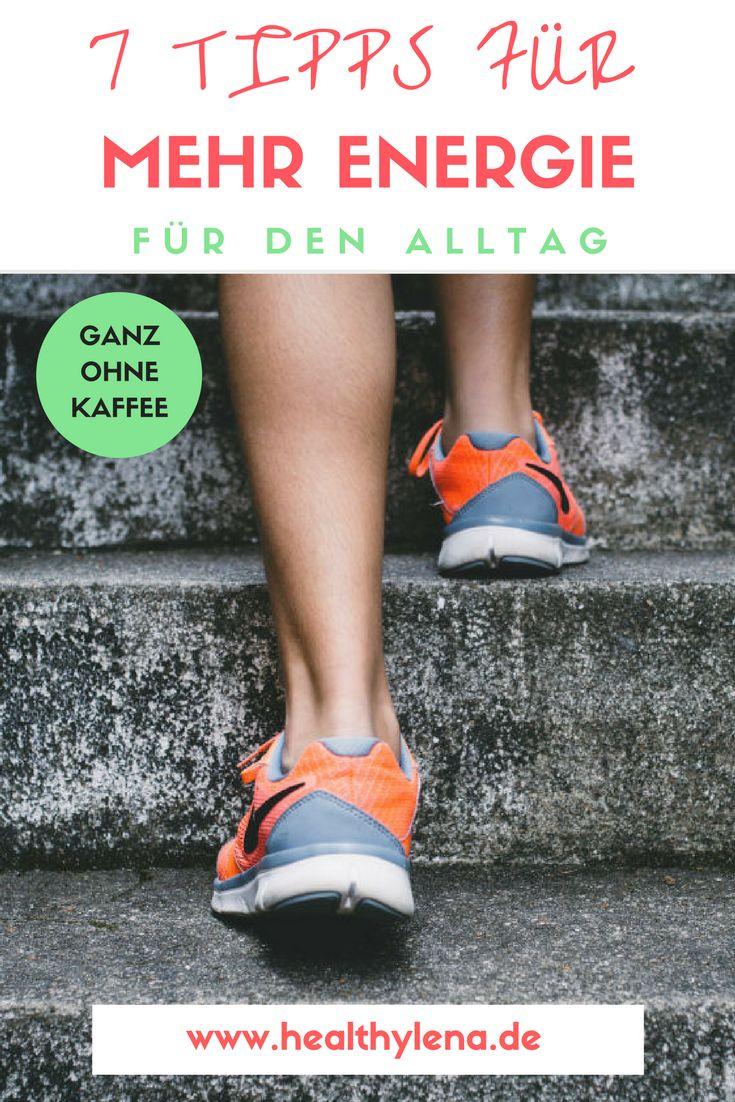 Keine Lust mehr auf das Koffein-Tief? Hier erfährst du 7 einfache Tipps für mehr Energie im Alltag – ganz ohne Kaffee! http://www.healthylena.de/lifestyle/7-tipps-fuer-mehr-energie-ganz-ohne-kaffee/