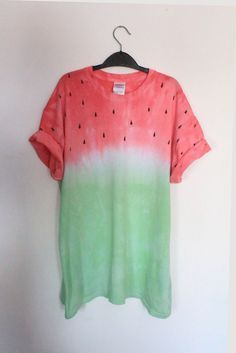 DIY Inspo: watermelon fruit tie dye dip dye t-shirt. I don't know why I like this so much. But I do.