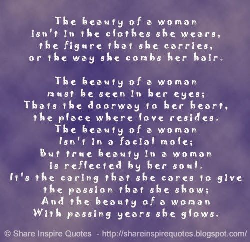 The beauty of woman isn't in... ♥♥ Share Inspire Quotes ♥♥ Inspirational, Motivational, Funny & Romantic Quotes - Love Quotes   Funny Quotes   Quotes about Life   Motivational Quotes   Life Quotes   Friendship Quotes   Daily Quotes   Positive Quotes   Encouraging Quotes   Favorite Quotes   Romantic Quotes   Famous Quotes   leadership Quotes   Inspirational, Motivational, Funny & Romantic Quotes By Website - http://shareinspirequotes.blogspot.com ✔ Like us on Faceboo...