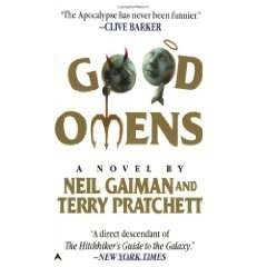 Good Omens, by Neil Gaiman and Terry Pratchett. An angel and a demon try to stop the Apocalypse, because they just LIKE Earth