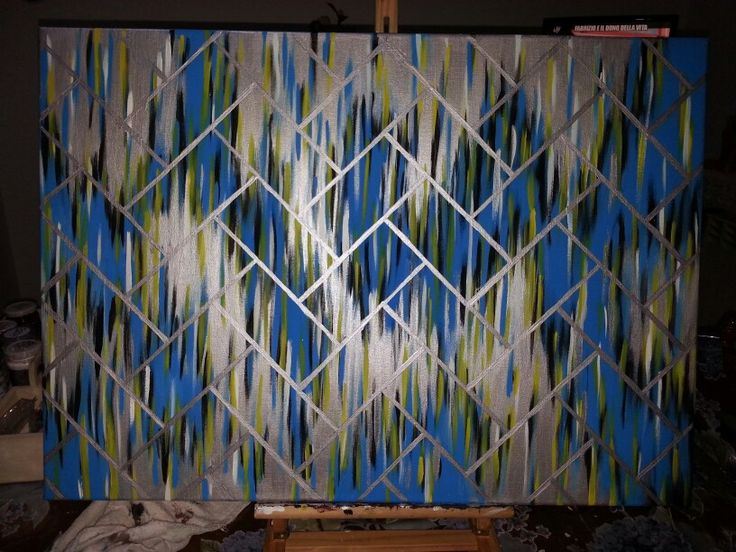 #diy #art #wall #metallic #canvas