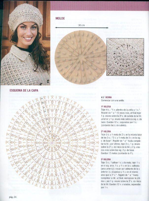 14 best berretti fatti a mano images on Pinterest | Scarfs, Crochet ...