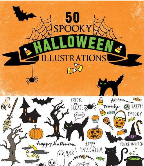 ハロウィン 50spooky-halloween