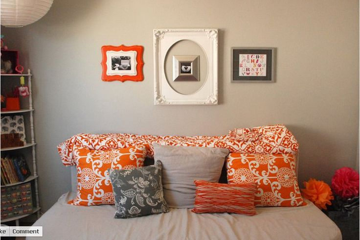 Grey and orange