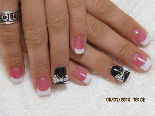 Black with now nails