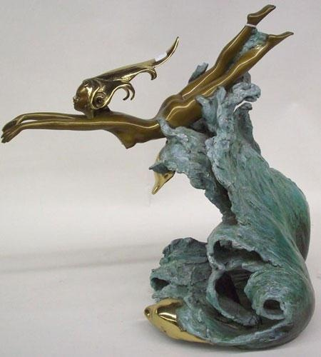 "Sculpture ""Companions Bronze Sculpture"" by Angelo Basso"