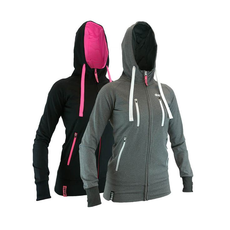 Ladies  Disc Golf Apparel - LADIES INSPIRE TECH HOODIE  Dudé version of the hoodie – hot pink instead of orange lines the hood and accents the zips, or choose the more subtle colour instead. Use this jacket on days that are cold but not as wet as when the waterproof tech jacket is a necessity. Pockets are big enough for discs, so will hold anything needed on course or off. For more details, visit…