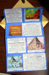 Activities: Make a Seven Wonders of the World Brochure.  Could easily be turned into 7 people, 7 events that changed America, 7 scientific elements,etc