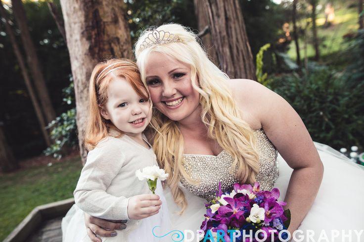 Bride's Dress  Cascading Tear Drop Bouquet  Allegro Weddings
