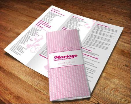 Livret de messe - Cherryfizz.fr - Photographe : Sonia BLANC - Mariage gourmand