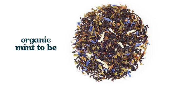 Mint to Be (Organic) - Organic black tea, peppermint, blue cornflower petals, coconut flakes. With natural flavoring*.