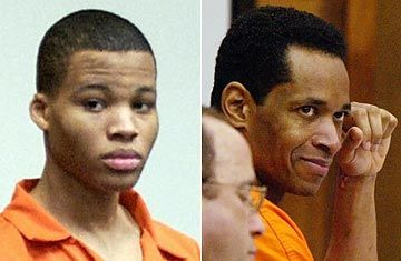 Over the course of three weeks in October 2002, John Muhammad, 41, and John Lee Malvo, 17, randomly shot and killed 13 people in a sniper rampage that took them from Washington D.C., to Rockville, Maryland and Fredericksburg, Virginia. They were eventually found sleeping in their 1990 Chevrolet Caprice — which had a small hole in the trunk through which the two were able to aim without being detected — along Interstate I-95 in on the night of October 24.