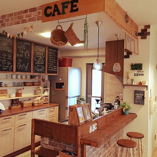 Diyのキッチンカウンターで自分だけの城に キッチン インテリア ヴィンテージキッチン