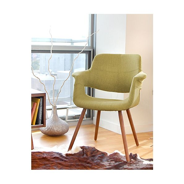 Valera Retro Modern Green Chair | Mid Century Design Furniture | Wood  Spindle Legs | Modern