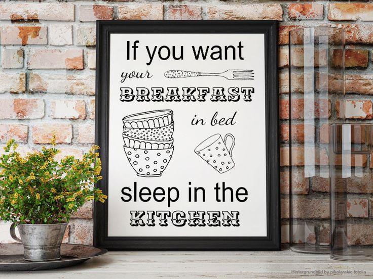 Poster Für Die Küche, Illustration, Selbstdrucken