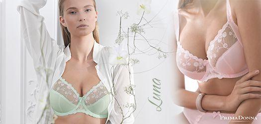 Nová jarní kolekce značky PrimaDonna v lehkých pastelových odstínech-pistáciové a růžové.