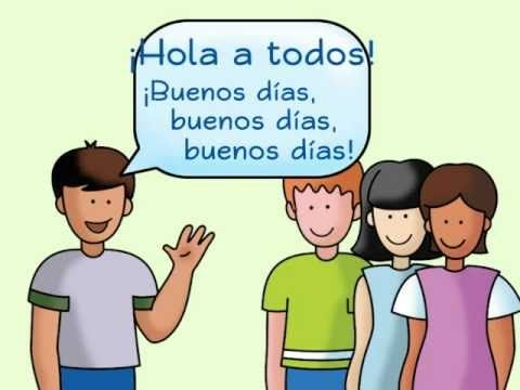63 best greetings images on pinterest spanish classroom spanish hola a todos a spanish greeting song calico spanish songs for kids m4hsunfo Gallery