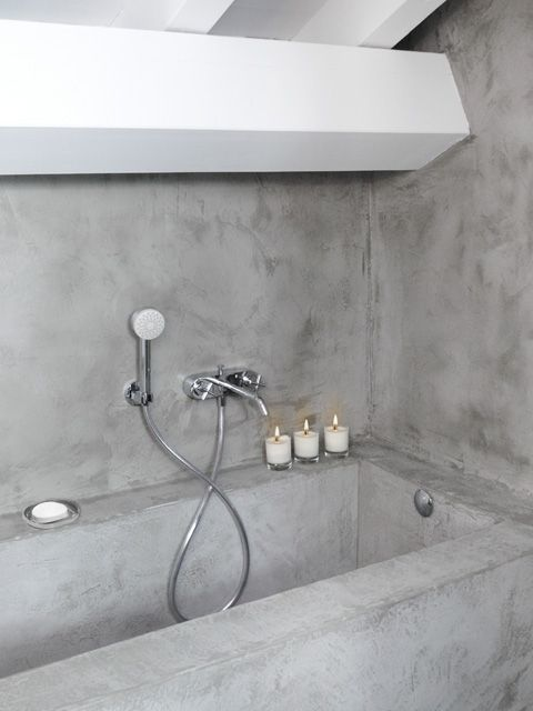 fashion bathroom trends: #concrete #microtopping surface http://www.idealwork.com/Micro-Topping-Features-and-benefits.html