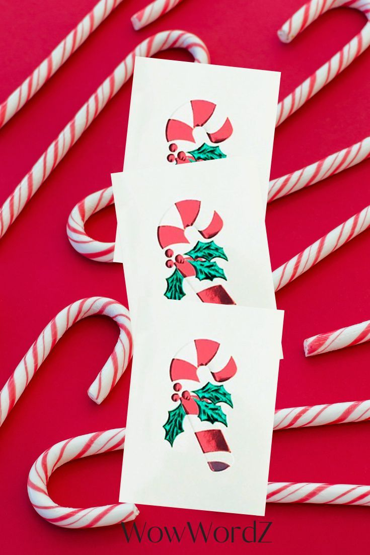 Candy Cane Christmas Holiday Cards. Red and green foil embossed. In my @wowwordz shop! #christmascards #holidaycards #redfoil #greenfoil #foilembossed