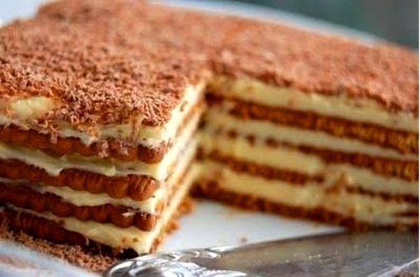 Pour passer un bon gateaux, nous vous proposons une recette de Gâteau aux petits-beurres . recette de cuisine, facile et rapide, par Les gourmands mediterraneens