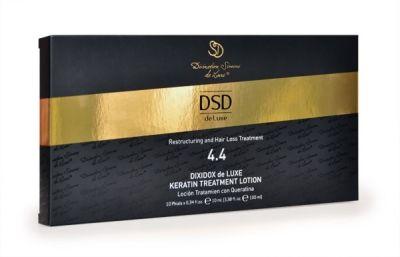ВОССТАНАВЛИВАЮЩИЙ ЛОСЬОН С КЕРАТИНОМ ДИКСИДОКС ДЕ ЛЮКС № 4.4 DIXIDOX DELUXE KERATIN TREATMENT LOTION Оздоравливает и восстанавливает поврежденную структуру волос за счет высокой концентрации гидролизованного кератина и коллагена. После применения лосьона волосы надолго приобретают блеск, силу и объем.