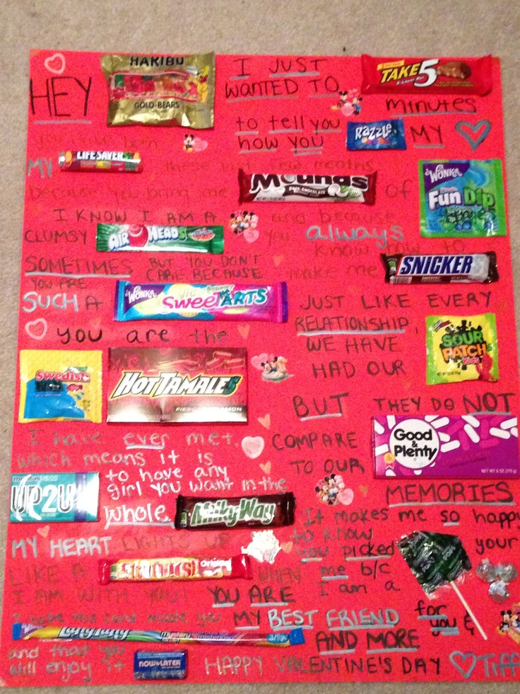 Candy Poster For Boyfriend Bar Ideas With Clever